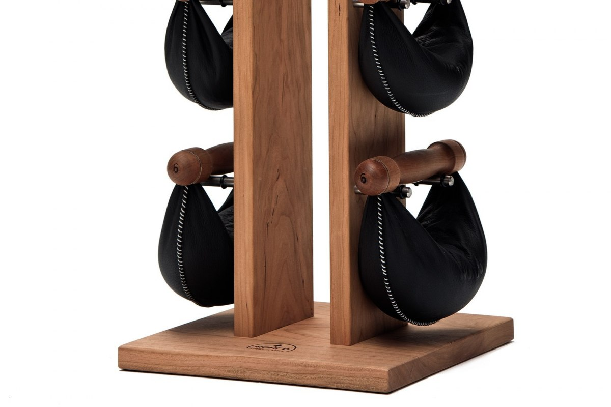 SwingBell Tower NOHrD 1-6 Kg Set Oxbridge Cherry Leather