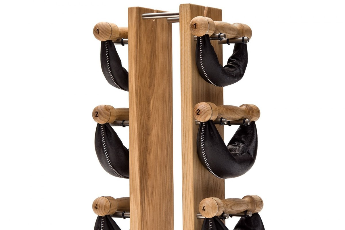 SwingBell Tower NOHrD 2-8 Kg Set Natural Ash Leather