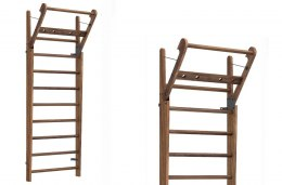 Gym Ladder NOHrD WallBar 10 Classic Walnut