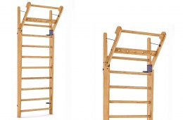 Gym Ladder NOHrD WallBar 10 Oxbridge Cherry