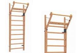 Gym Ladder NOHrD WallBar 10 Oak Oak