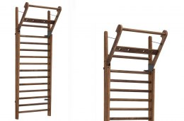 Gym Ladder NOHrD WallBar 14 Classic Walnut