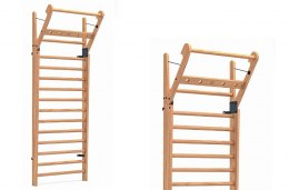 Gym Ladder NOHrD WallBar 14 Oak Oak