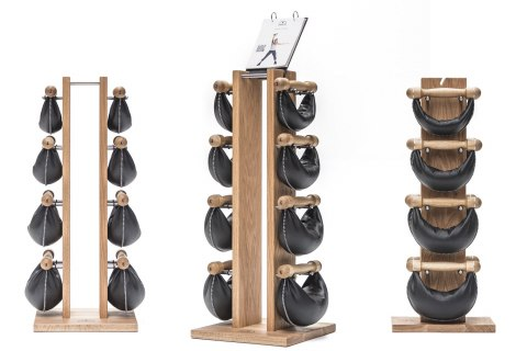 SwingBell Tower NOHrD 1-6 Kg Set Natural Ash Leather